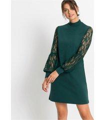 jurk met kanten mouwen