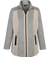 fleece vest miamoda grijs::beige::wit