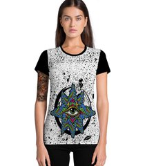 camiseta feminina ramavi estrela do mar manga curta