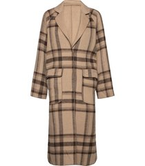 viamas 2in1 wool coat yllerock rock brun vila