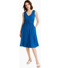alfani solid empire-waist cinched v-neck dress, created for macy's