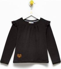 bluzka dziecięca black ruffles blouse