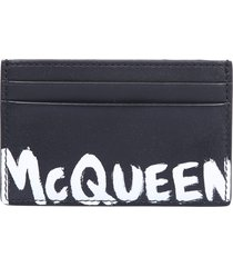 alexander mcqueen branded card holder