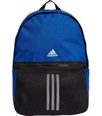mochila azul adidas classic 3 franjas 26l