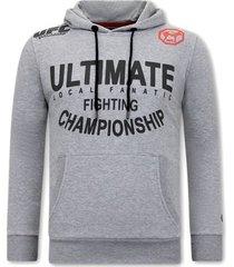 sweater local fanatic hoodie print ufc ultimate fighting