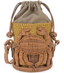kailani straw bucket bag