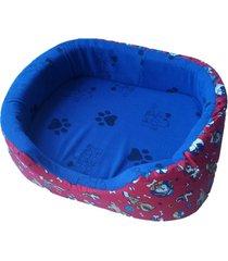 cama para perro tipo cuna mediana - azul