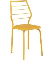 conjunto 2 cadeiras 1716 napa móveis carraro amarelo