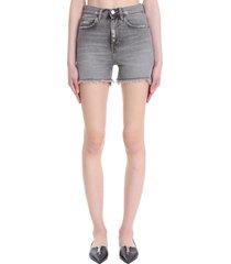 haikure ibiza shorts in grey denim