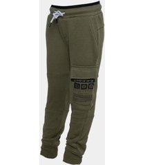 pantalon buzo cargo bolsillo print verde oscuro family shop