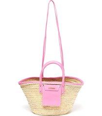 'le panier soleil' hand held straw tote bag