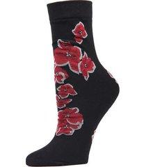 natori ginza crew socks, women's, black natori