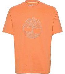 over iridescent tee t-shirts short-sleeved orange timberland