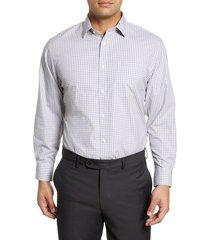 men's big & tall nordstrom men's shop smartcare(tm) traditional fit check dress shirt, size 20 - 38/39 - grey