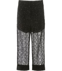 self-portrait sequin lace trousers