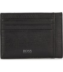 boss hugo boss men's cosmopole card holder - black