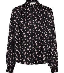 aline shirt overhemd met lange mouwen zwart nué notes