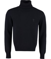 ami alexandre mattiussi cashmere turtleneck sweater