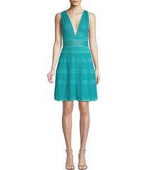 lattice-knit a-line dress