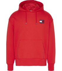 buzo tommy badge hoodie rojo tommy jeans