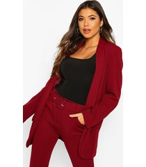 tailored blazer, wine