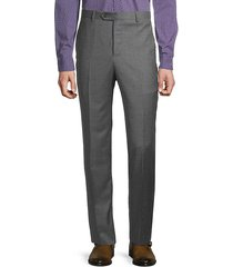 textured wool dress trousers
