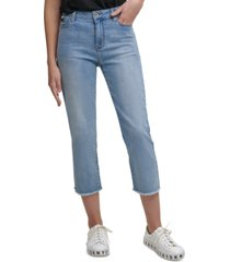 dkny jeans cropped straight-leg pants