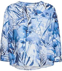 blouse 3/4-sleeve blus långärmad blå gerry weber edition