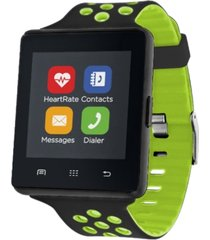itouch air 2 smartwatch 45mm gunmetal case with black and lime green strap