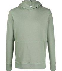 john elliott plain jersey hoodie - green