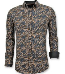 overhemd lange mouw tony backer luxe stijlvolle digitale print