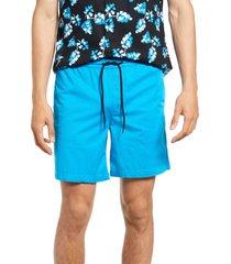 men's open edit men's e-waist shorts, size large - blue