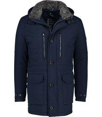 pierre cardin jas donkerblauw parkamodel