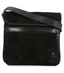 as2ov bolsa tiracolo 'sacoche' de camurça - preto