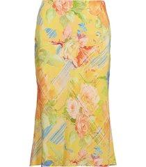 kaela floral silk skirt