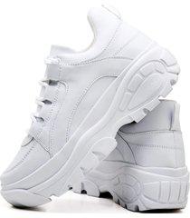 tãªnis sapatãªnis casual plataforma fashion feminino dubuy 728el branco - branco - feminino - sintã©tico - dafiti
