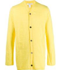 comme des garçons shirt fine knit cardigan - yellow
