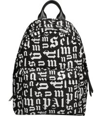 palm angels gothic logo backpack