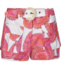 zimmermann belted printed shorts