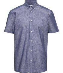 aleksander kortärmad skjorta blå minimum
