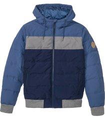 giacca trapuntata con cappuccio (blu) - john baner jeanswear