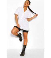 plus longline tunic blouse, white