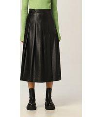 msgm skirt msgm midi skirt in ecological leather