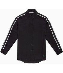 camisa relaxed tape negra calvin klein