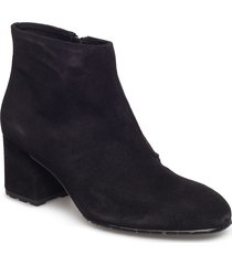 suede ankle boot shoes boots ankle boots ankle boot - heel svart ilse jacobsen