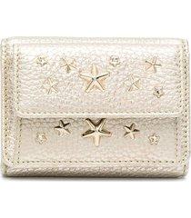 jimmy choo nemo star-studded wallet - gold