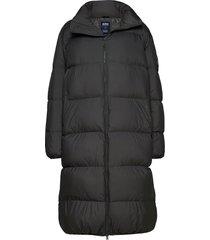 elina jacket gevoerde lange jas zwart svea