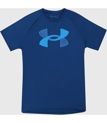 camiseta azul under armour ua tech big logo short sleeve