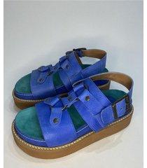 sandalia azul liotta rihana