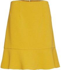 dorotea flare mini skirt kort kjol gul french connection